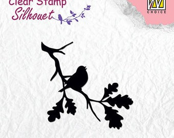 Stamp clear transparent scrapbooking NELLIE's CHOICE bird singing 2