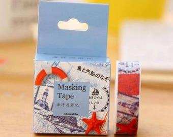 Washi Tape, Masking Tape, tape adhesive scrapbooking Navy