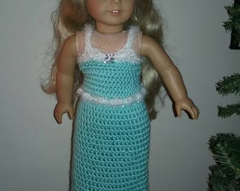 """Elsa Gown for 18"""" doll, American Girl Doll"""