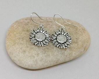 Sunflower Earrings, Flower Earrings, Daisy Earrings