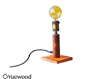 "Wooden lamp, ""Willow Two"", desk lamp, night lamp, lighting, Industrial Lighting, handmade, Retrofitting, (incl. Led Filament)"