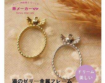 Angel Mirror open bezel,open back bezel,resin bezel,resin craft,uv resin,gold charm,gold open bezel,resin charm,jewelry findings