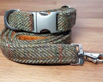 Harris Tweed Collar Dog Collar Handmade