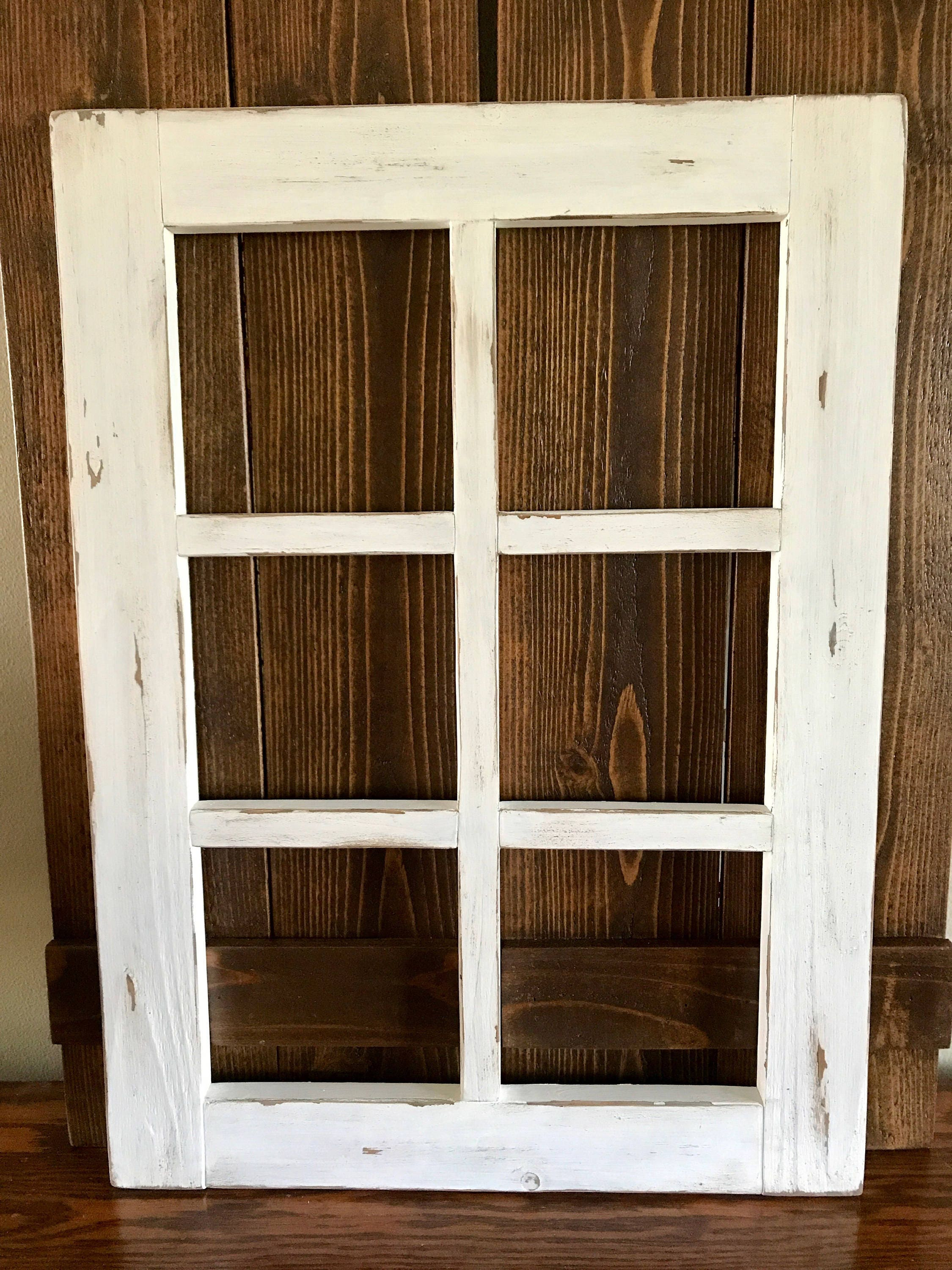 Farmhouse Window Frame with Board & Batten Shutters, Vintage Style 6 ...