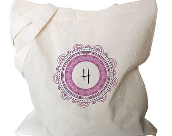 Personalised Tote Bag - Monogram Tote - Canvas Tote Bags  - Cute Personalized Totes