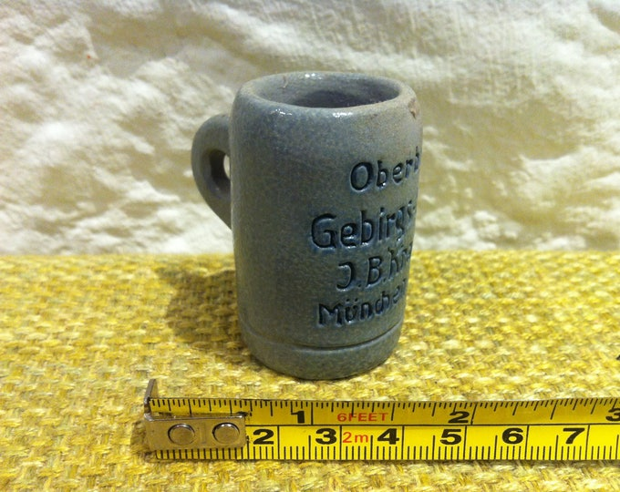 Vintage beer Stein beer mug beer jar Doll House miniature of mountain gentian 2 cl souvenir