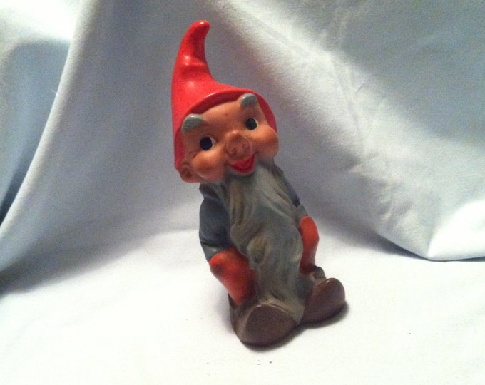 Vintage Garden Dwarf hot 924 gnome rubber made in Germany