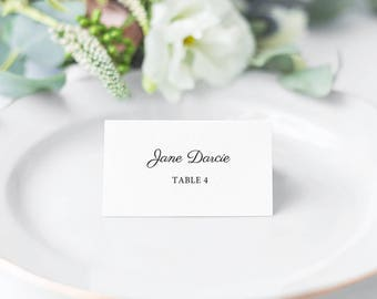 Monet, Printable Modern Script Style Place Cards/ Seating Cards