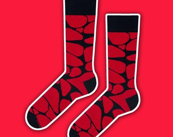 Jerry - red crazy socks | men socks | gift socks | cool socks | wedding socks | casual socks | colorful socks | unique socks | gift for him