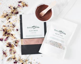 Bath Tea,Herbal Detox Mask,Birthday Gift Under 20,Natural Skin Care,Gift for girlfriend,Birthday gift,Vegan Skincare,Gift for best friend
