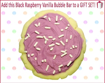 Sugar Cookie Bubble Bar, Raspberry Vanilla, Bath Cookie, Bubble Bar, Spa Set, Bath Gift Set, Spa Gift Set, Bath Gift, Bath Gift Basket, Gift
