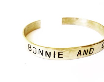 BONNIE AND CLYDE Bangle customizable