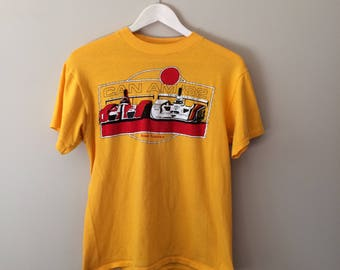 Vintage Single Stitch Can Am 1982 Road America Racing T Shirt