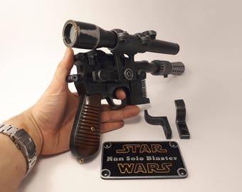 Star Wars  blaster DL-44 - Han Solo - Battlefront - 3D printed - cosplay - props - gun -weapon