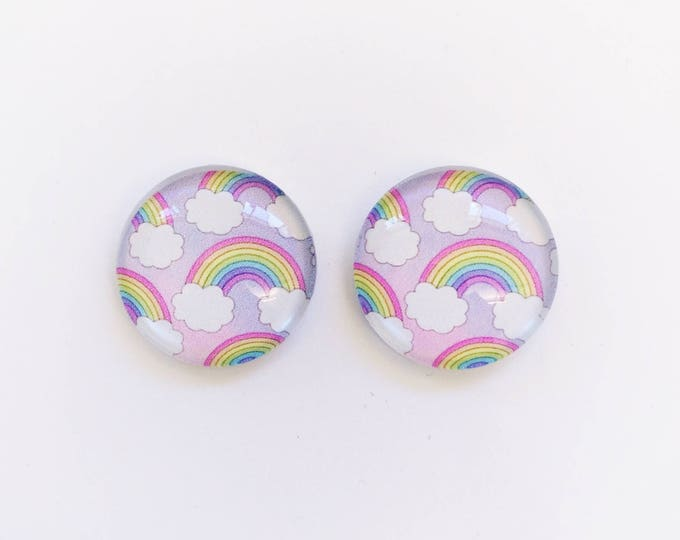 The 'Dream Land' Glass Earring Studs