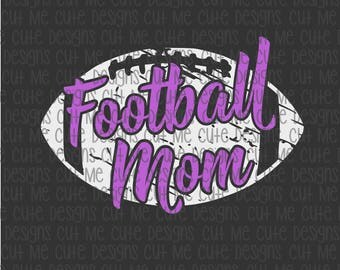 SVG DXF PNG cut file cricut silhouette cameo scrap booking Football Mom Distressed