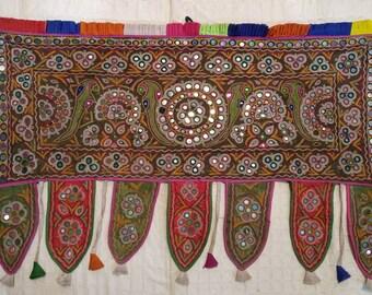 Toran Decor: vintage MachuKatha Tribe's Valence, Door topper, Toran, Traditional Temple decor, window decor, Van/ Bus decor