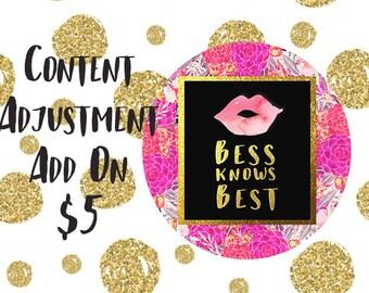 Content Adjustment Add On