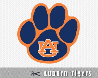 SVG PNG DXF Auburn Tigers University Cut Files Silhouette Cameo Cricut Design Template Stencil Vinyl Decal Tshirt Heat Transfer Iron On Htv