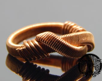 Wire wrapped ring Copper ring Mens ring Womens ring Steampunk ring Wire wrap ring Infinity ring Magic ring Best gift For him Husband gift