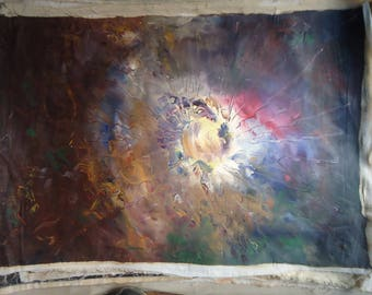 Space oil Painting on canvas by Naci Caba