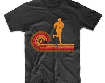 Retro Style Runner Silhouette Running T-Shirt