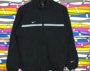 Rare !! NIKE Small Logo Full Zipper Black Colour