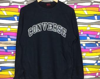 Rare!! CONVERSE Sweatshirt Spellout