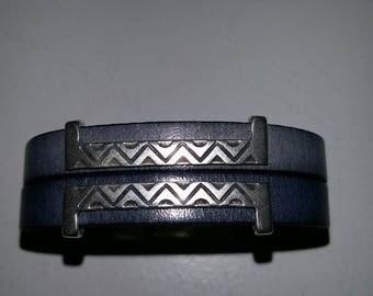 leather bracelet for men aztek