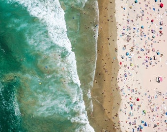 Orange County: 'Beach Bums' // Aerial Beach Photography // 3 Different Print Sizes