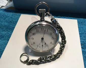 pocket watch Waltham1908  s18  serviced