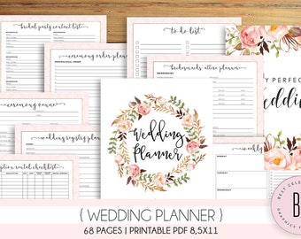 Wedding planner etsy for Diy wedding binder templates
