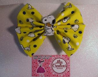 Cute doggie bright yellow bow