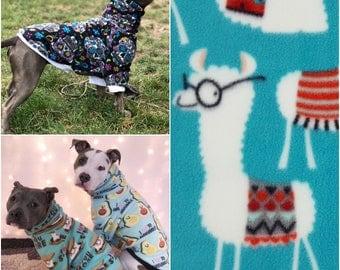 Library Llamas Dog Sweater, Dog Sweatshirt, Dog Hoodie, Dog Shirt, Dog Clothes, Dog Clothing, Fun Dog Sweater, Fleece Dog Sweater