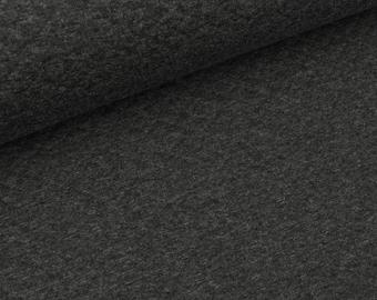 Light Steppsweat dark grey melange (11,50 EUR / meter)