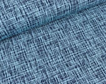 Cotton jersey Vera Criss Cross Blue-dark blue (15.50 EUR/meter)