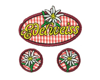 Ironing/Application Edelweiss set of 3