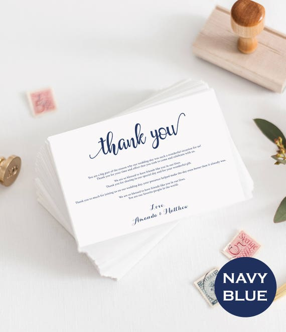 navy wedding thank you template