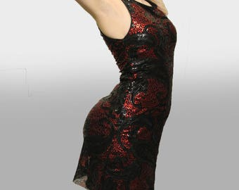 Glamorous Paisley Gatsby Sequin Party Dress