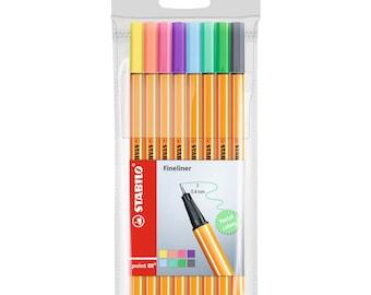 Stabilo Pastel Color Point 88 Fineliner 0.4mm Pen   8 Colour Pens   Art Craft Drawing Colouring  Doodle Bullet Journal Lettering 