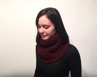 Cowl Neck Warmer // Seed Stitch Knit Cowl // Women's Winter Knit Neck Warmer