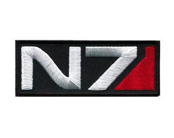 "N7 Cosplay Tactical Ops Iron on Embroidered patch Appliqué (1.25""-3.0"")"