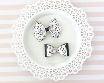 Music Note Bow, Music Note Headband, Musical Bow