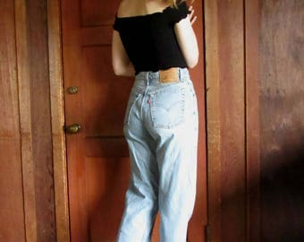 80s Levis 560 /27 / 4 High Waist/ 1980s Faded Mom Jeans / 27 x 29