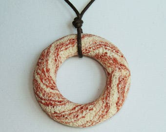 Red Lava Rock Necklace