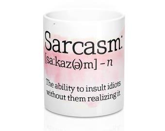 Definition Von Sarkasmus Becher Sarkastische Becher Sarkastische Zitat Tee  Kaffee Kaffeetasse Geburtstag Valentinstag Geschenk