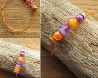 Waxed cotton bracelet 16258