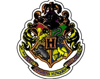 5x7 Embroidery File: Hogwarts Crest, Choose Your Size and Format