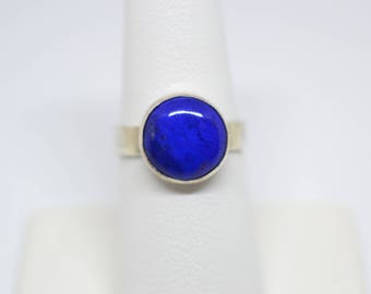 Lapis and Sterling Silver Ring, Size 7