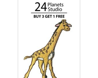 Giraffe Iron on Patch by 24PlanetsStudio